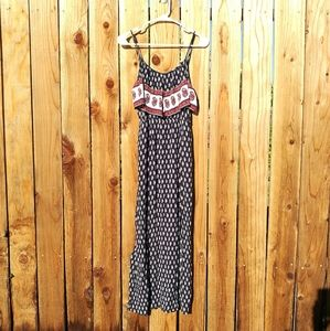 American Eagle Outfitters Paisley Navy Maxi Dress